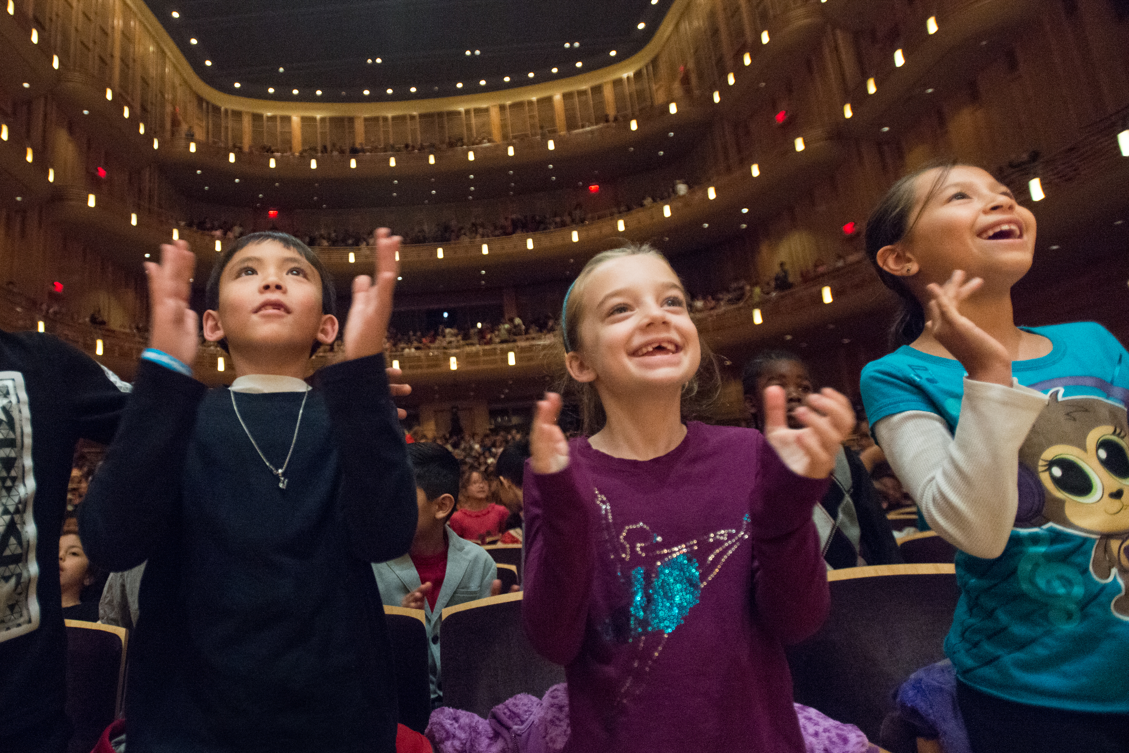 Every MCPS second- and fifth-grader comes to the Music Center's Concert Hall for the opportunity to experience the wonder of a live performance and build on classroom-based curriculum on classical music and the blues.