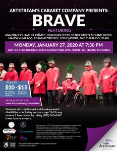 ArtStream's Maryland Cabaret Presents: Brave