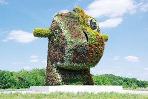 "See Jeff Koons's ""Split-Rocker"" sculpture at Glenstone."