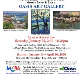 Montgomery Art Association Show at Oasis Art Galle...
