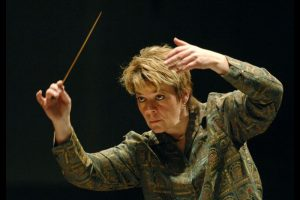 Marin Alsop is the BSO music director designate, conducting a rehearsal of the Peabody Symphony and BSO musicians at the Peabody Institute in 2006