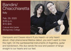 Marlow Guitar Series Presents Bandini-Chiacchiaretta