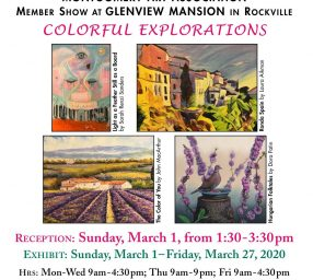 """""""Colorful Explorations"""": An MAA Members Show at Glenview Mansion"""