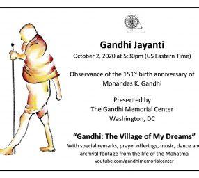151st Gandhi Birth Anniversary Observance