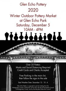 Glen Echo Pottery 2020 Winter Outdoor Market