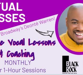 Private Vocal Lessons & Coaching with Broadway's Deonté Warren - January