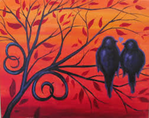 Painting with the Pros – Love Birds – Online Class