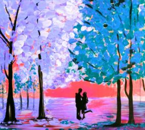 FREE Painting with the Pros – Couple Love – Online Class