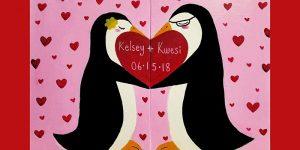 Virtual Valentine's Paint & Sip Date Night