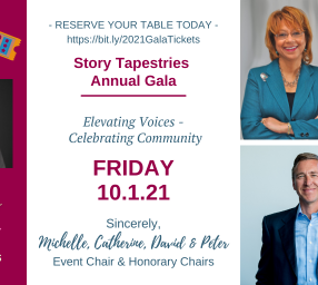 """Story Tapestries' 2nd Annual Virtual Gala - """"Elevating Voices - Celebrating Community"""""""